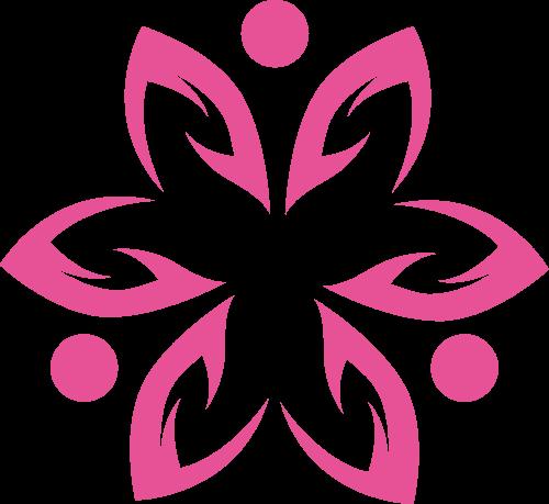 花朵图形矢量logo