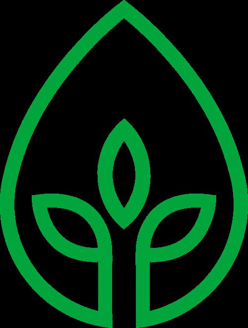 水滴树苗矢量logo矢量logo