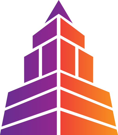 几何建筑高楼矢量logo