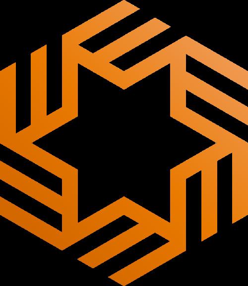 旋转五角星矢量logo