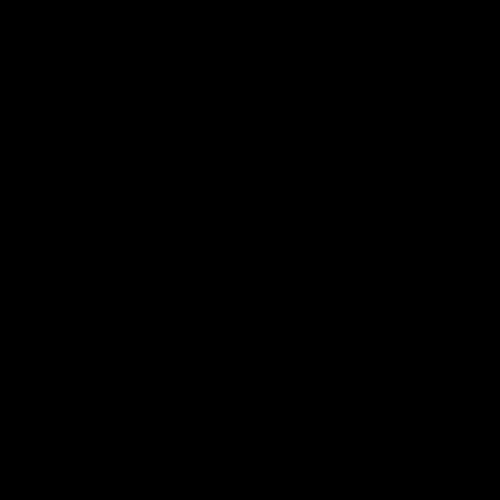 黑白圆形奶牛矢量图形logo