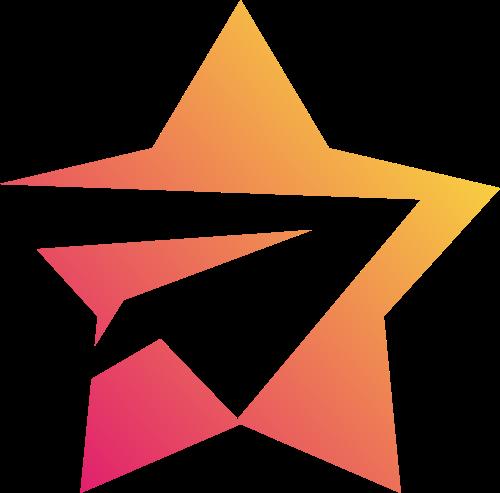 五角星飞机创意矢量logo