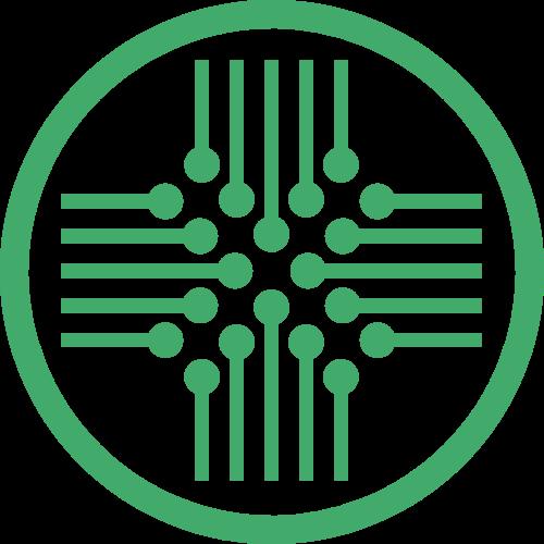 圆形线路板矢量logo