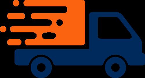 货车运输货物矢量图形
