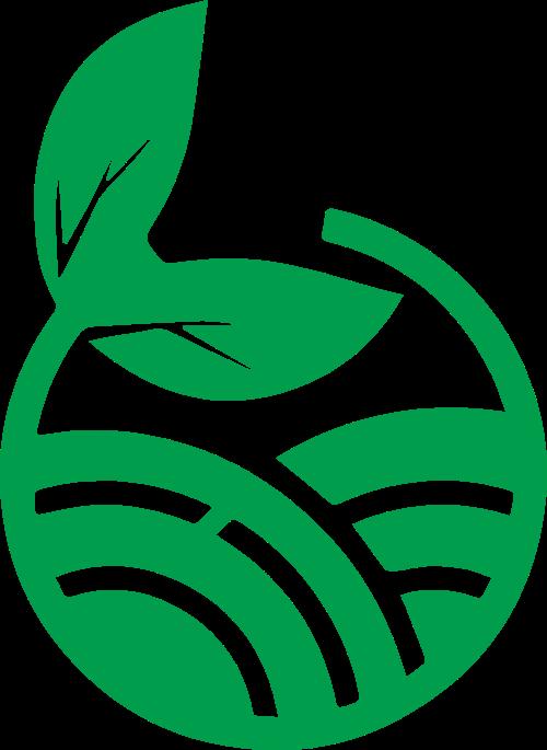 绿色树苗矢量图形logo