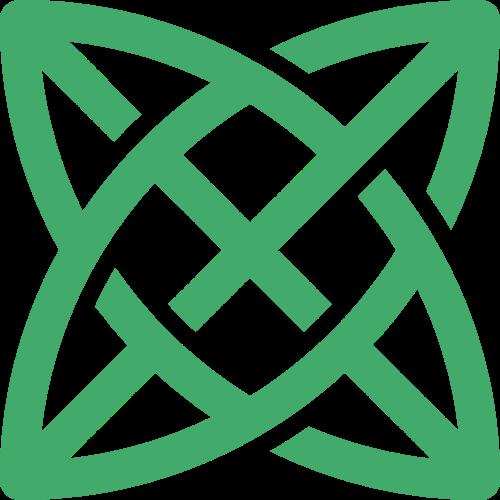绿色花草矢量logo