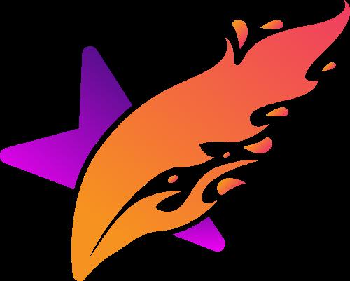 星星火焰矢量logo