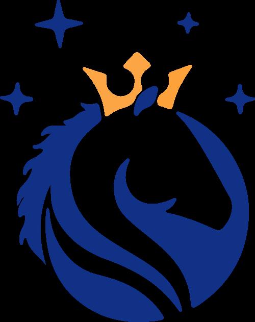 卡通皇冠马矢量图形logo