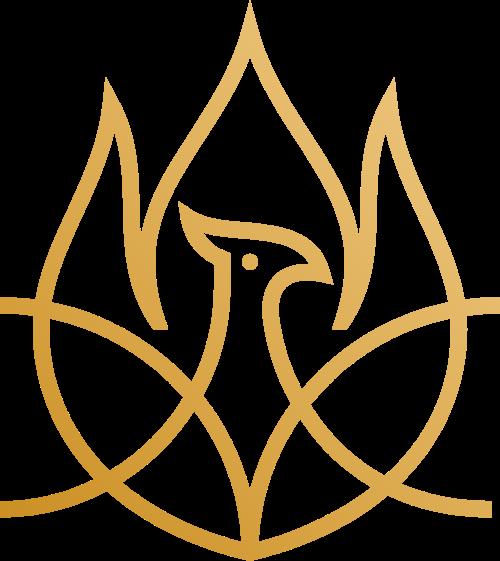 线性飞鸟矢量logo