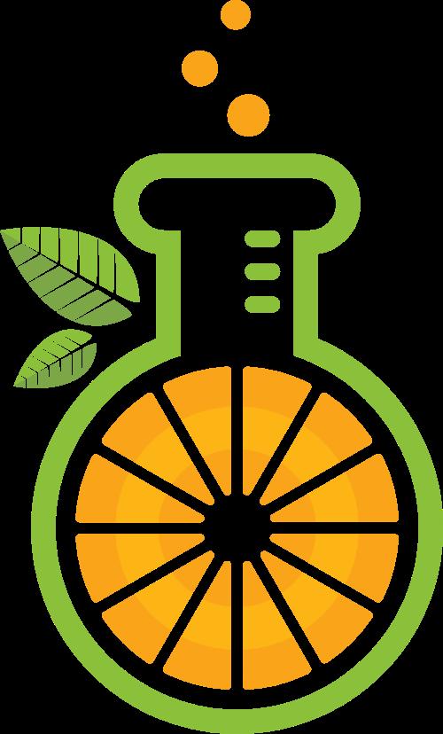 卡通简约果汁矢量logo