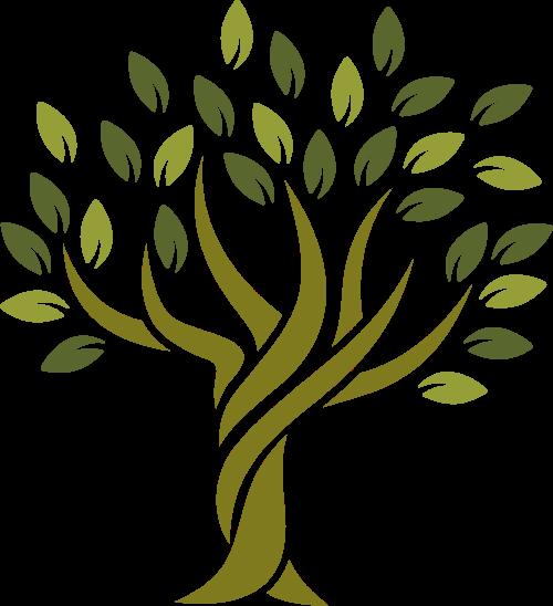 大树图形设计矢量logo
