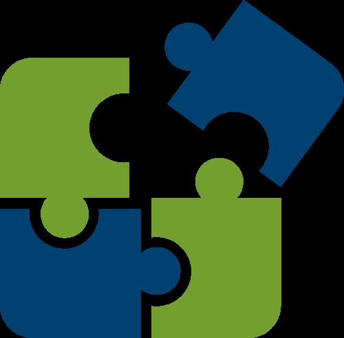 拼图矢量logo