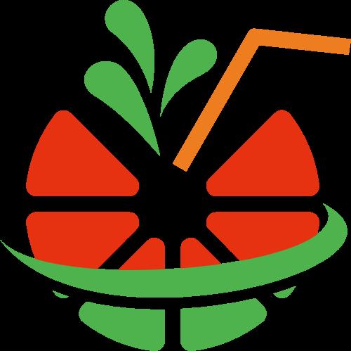 水果西瓜汁创意矢量logo