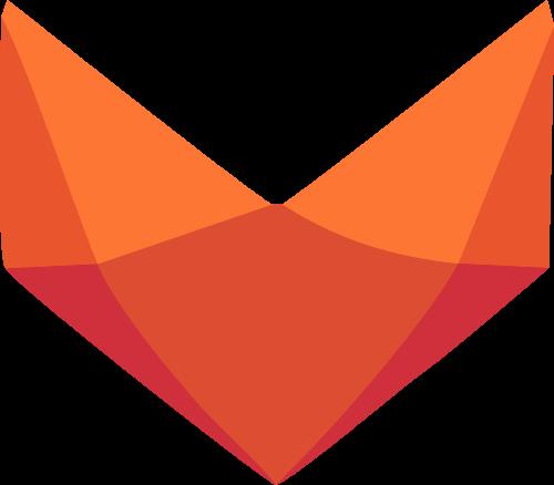 几何切面狐狸矢量logo