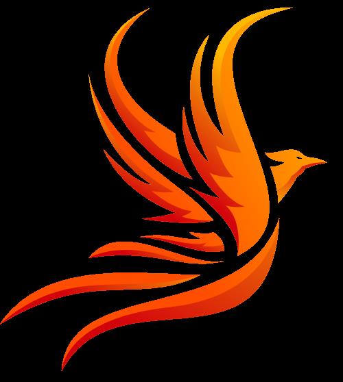 飞翔的凤凰矢量logo