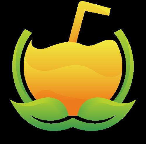卡通果汁矢量logo