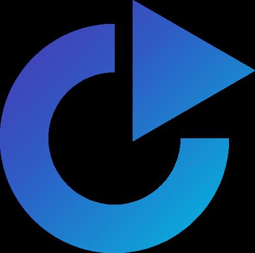 圆形箭头矢量图形logo