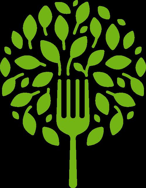 叉子树创意矢量logo