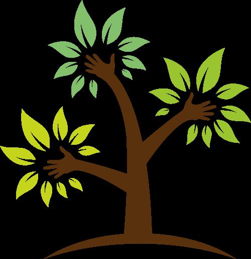 卡通树木创意矢量logo