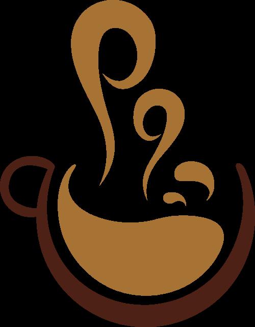 热气腾腾的咖啡矢量图形