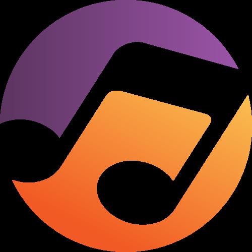 圆形音符矢量图形logo