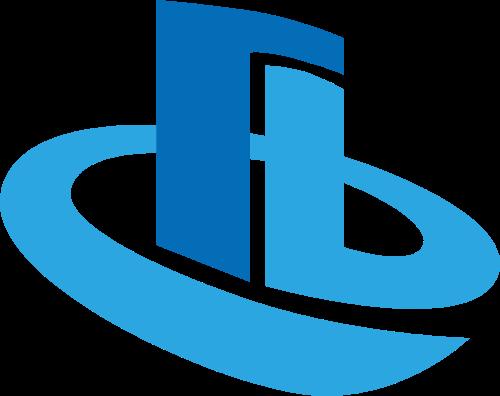 蓝色商务矢量图形logo