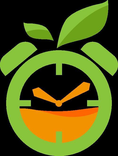 苹果果汁时钟创意矢量logo