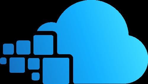 科技方块云矢量图形