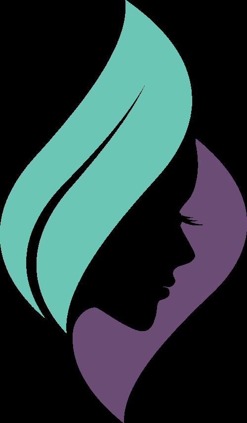 创意女性侧脸矢量图形