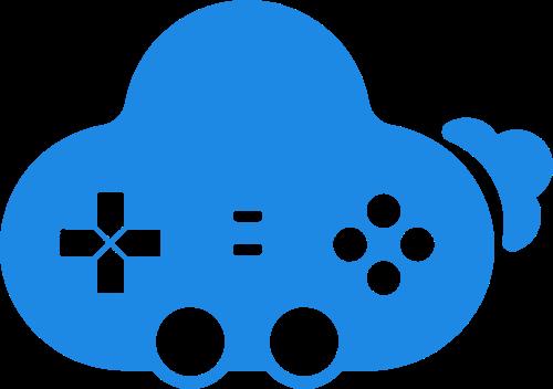 游戏手柄云创意矢量图形