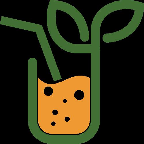 卡通果汁冷饮矢量logo