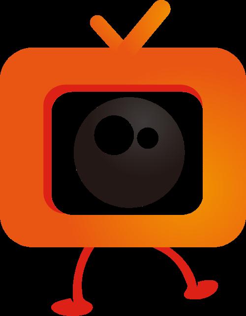 大眼睛卡通电视矢量图形