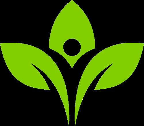 绿色树苗矢量图形