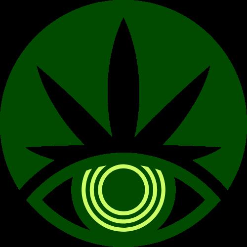 绿色圆形创意眼睛矢量图形
