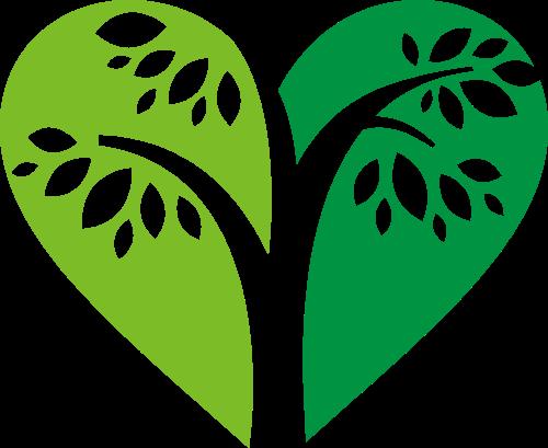 爱心树矢量logo