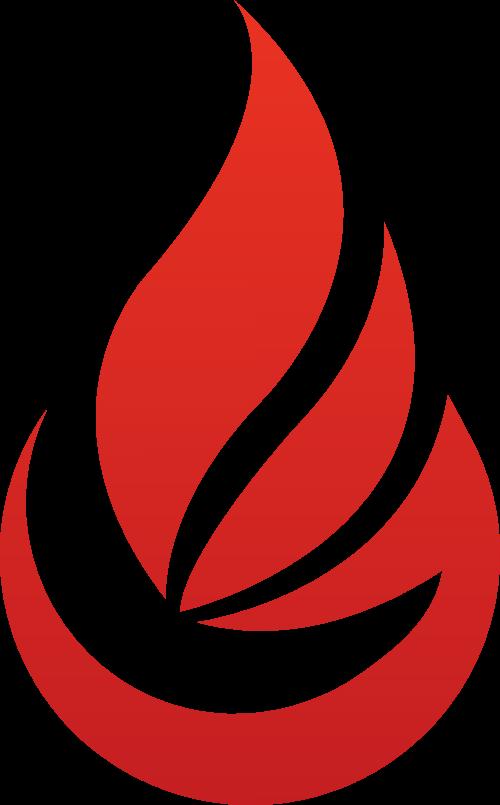 红色火焰矢量图形logo