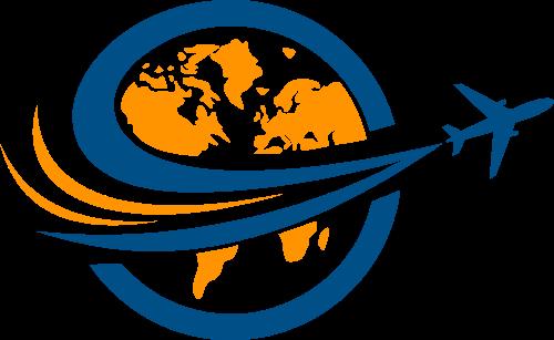 地球飞机矢量图形