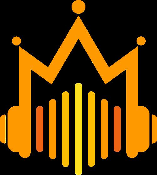 皇冠耳机矢量图形