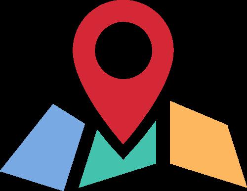 地图指示路标矢量图形