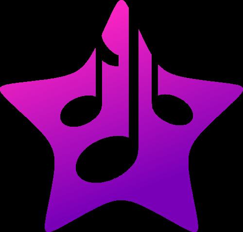 星星音符矢量图形