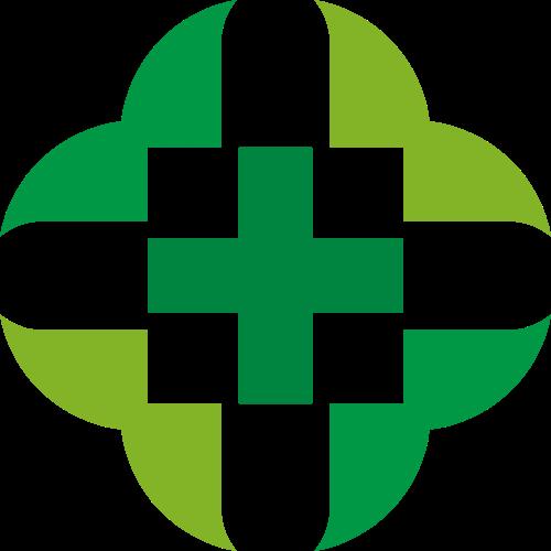 绿色十字医疗矢量图形