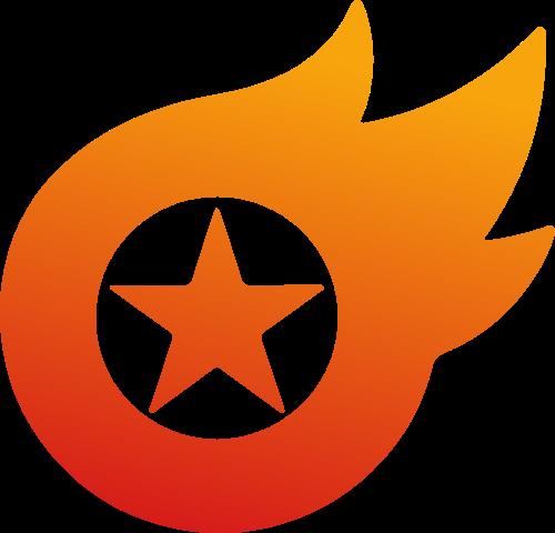 火焰星星矢量图形