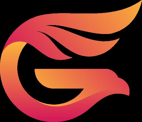 字母G和老鹰的结合矢量logo