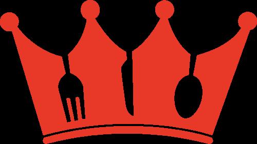 皇冠刀叉创意矢量logo