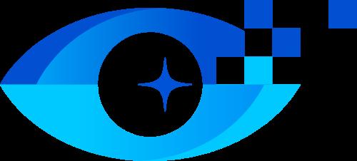 蓝色科技眼睛矢量图形