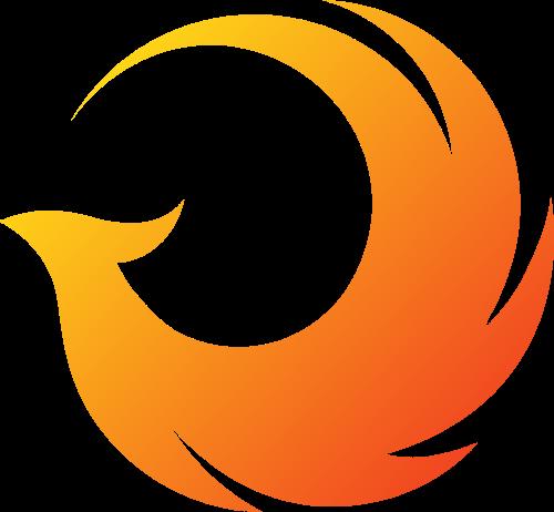 圆形凤凰图形矢量logo