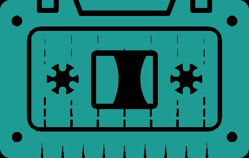 绿色磁带矢量图形