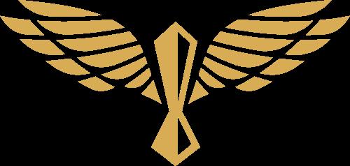 翅膀领带服装矢量图像