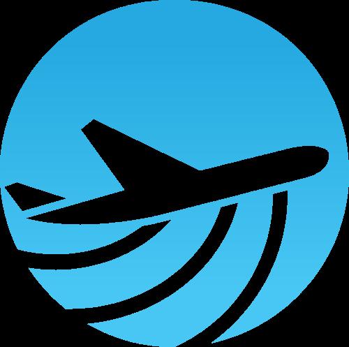 圆形飞机矢量图形