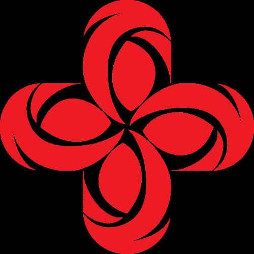 红色花纹图形矢量logo